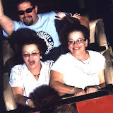 Bonnie and Pam on Rollo Coaster at Idlewild.
