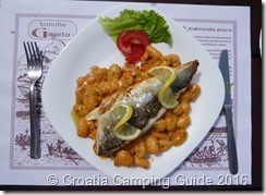Croatia Camping Guide - Senj, Dinner