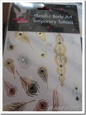 temporary metallic body tattoos