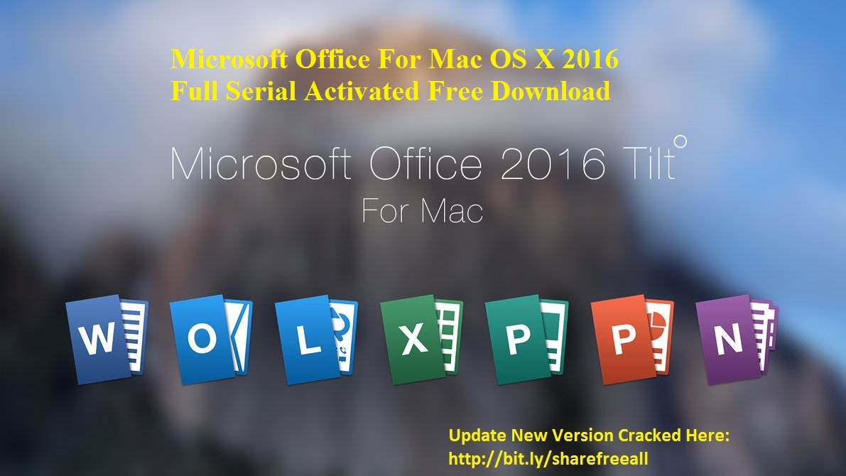 Microsoft Office 2016 For Mac Os X V15112 Serial Crack Keygen