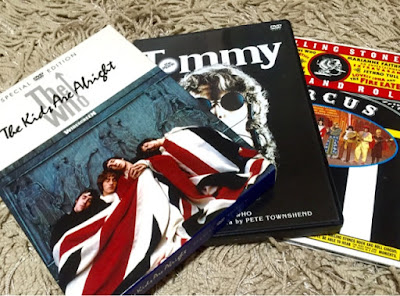 左から「The Kids Are Alright」「Tommy」「Rock 'n' Roll Circus」