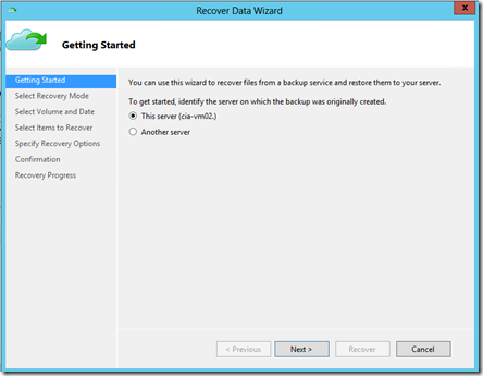 Restoring files and folders with Azure backup – CIAOPS