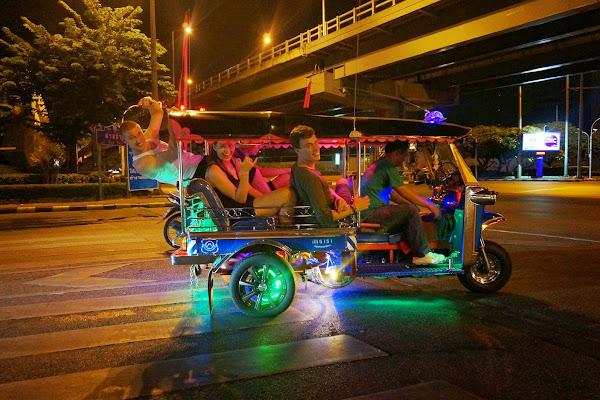 With the Tuk Tuk across Bangkok