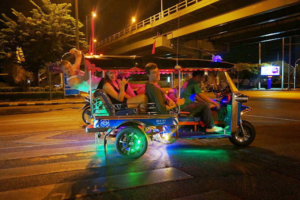 With the Tuk Tuk across Bangkok