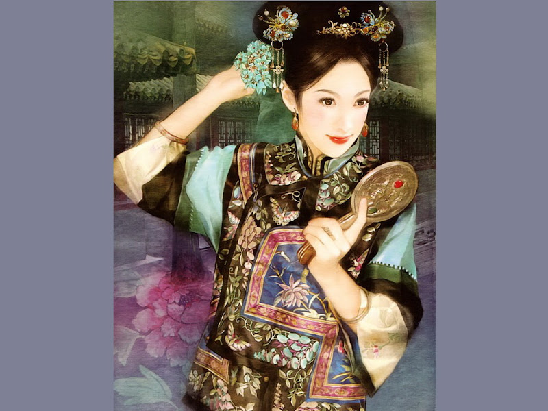 Samurai Beauty With Small Mirror, Magic Samurai Beauties