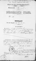 Vos, Nicolaas en Roos, Lijntje Huwelijksbijlage 12-04-1878 Extract geboorte N. Vos.jpg