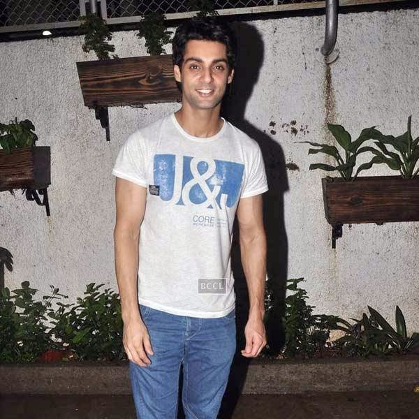 Karan Wahi at the premiere of Bollywood movie Hate Story 2, held at Super Sunny Sound in Mumbai, on July 17, 2014.(Pic: Viral Bhayani)