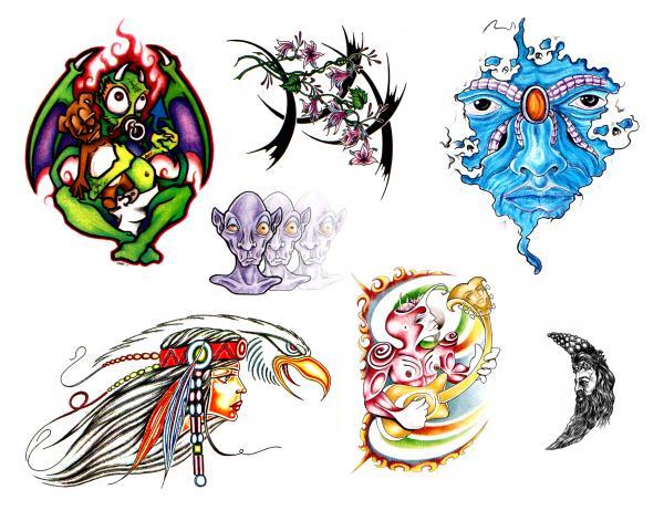 Weird Tattoo Design, Fantasy Tattoo Designs