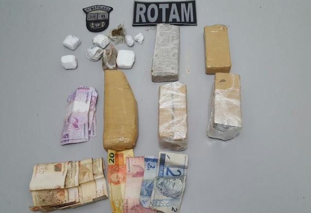 Homem é preso com droga e dinheiro em Roncador