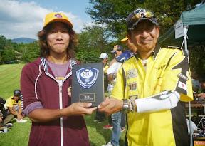 1位 長野健人選手 表彰