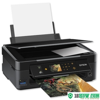 How to reset flashing lights for Epson SX445 printer