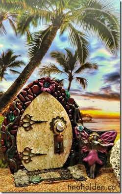 fairy house on beach