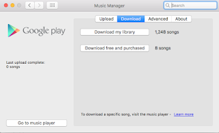 How to download all the music that I uploaded myself
