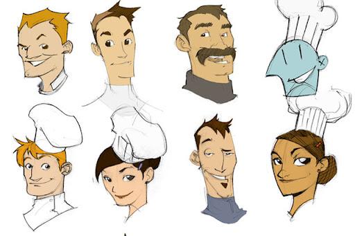 Concept de personagens: Márcio Vieira