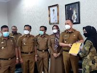 Exit Briefing, BPK RI Perwakilan Lampung Serahkan LPH Kepada Pemkab Lamsel