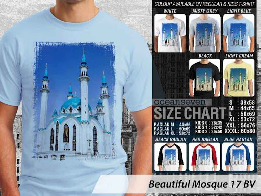 Kaos Muslim Islam Beautiful Mosque 17 distro ocean seven