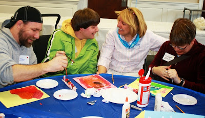 Many of the special needs men and women enjoyed arts and crafts, as well as other activities!