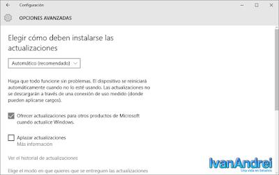 Entrega de actualizaciones de Windows 10