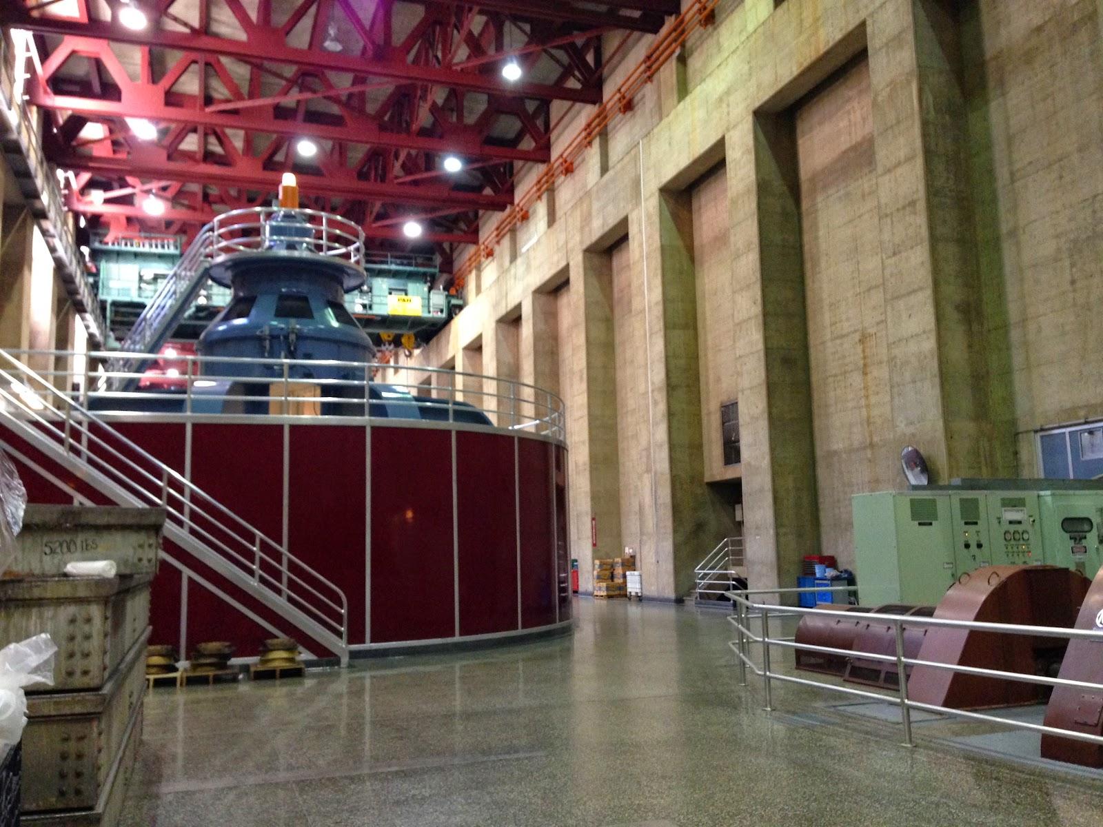 an original turbine inside the hoover dam  photo by elizabeth hansburg