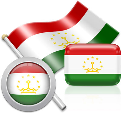 Tajikistani flag icons pictures collection