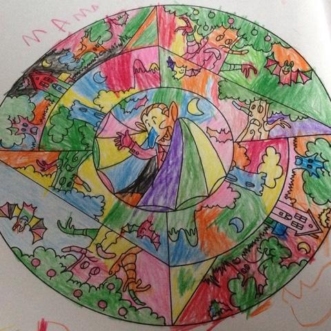 Farbenfrohes Mandala