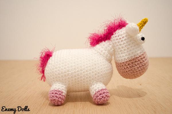 Amigurumi Unicornio Gru : Enemy dolls el unicornio de gru