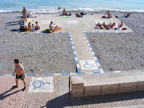 Photo: Interesting arrangement for a handicapped access beach - no doubt also clothing optional.