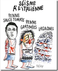 La vignetta modificata di Charlie Hebdo