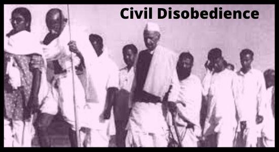 Civil Disobedience Movement History in Hindi