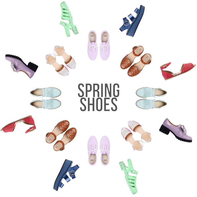 high street spring fashion shoes