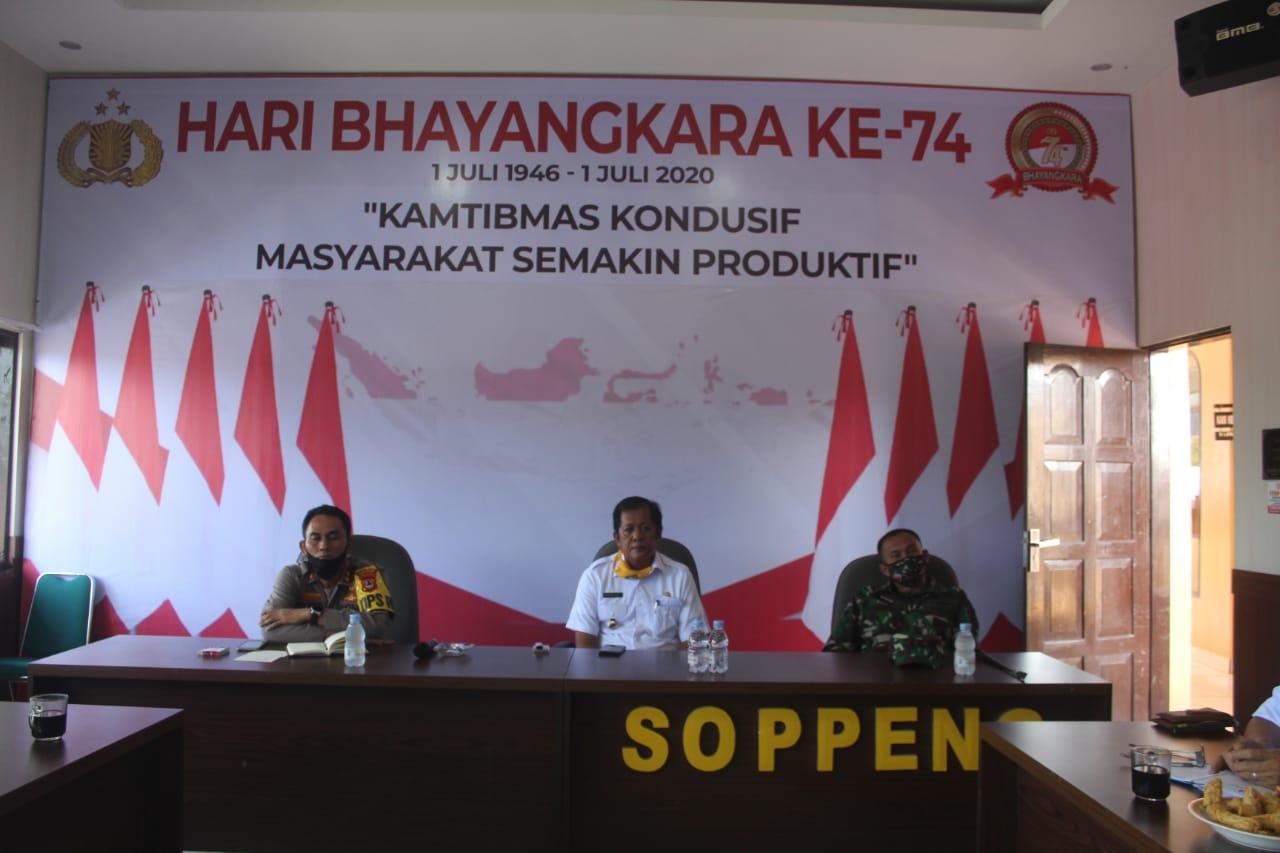 Polres Soppeng Gelar Rapat Koordinasi Persiapan Peresmian Kampung Balla Ewako Sitiroang Deceng
