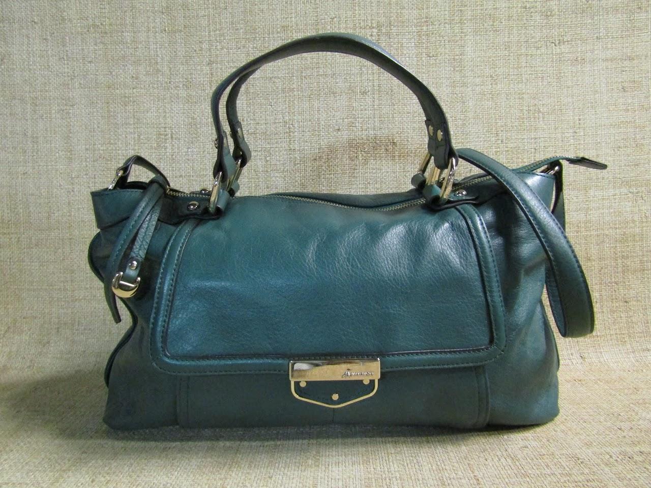 B Makowski Hunter Green Shoulder Bag