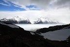 View from Summit Above Glacier Grey & South American Ice Field on Circuit Hike (Torres Del Paine, Chile)
