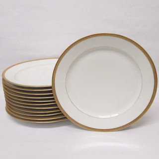 """""""Old Abby"""" Limoges Dinner Plates 12"""