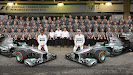 The Mercedes AMG Petronas team