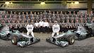 The Mercedes AMG Petronas team