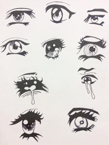 occhi di manga