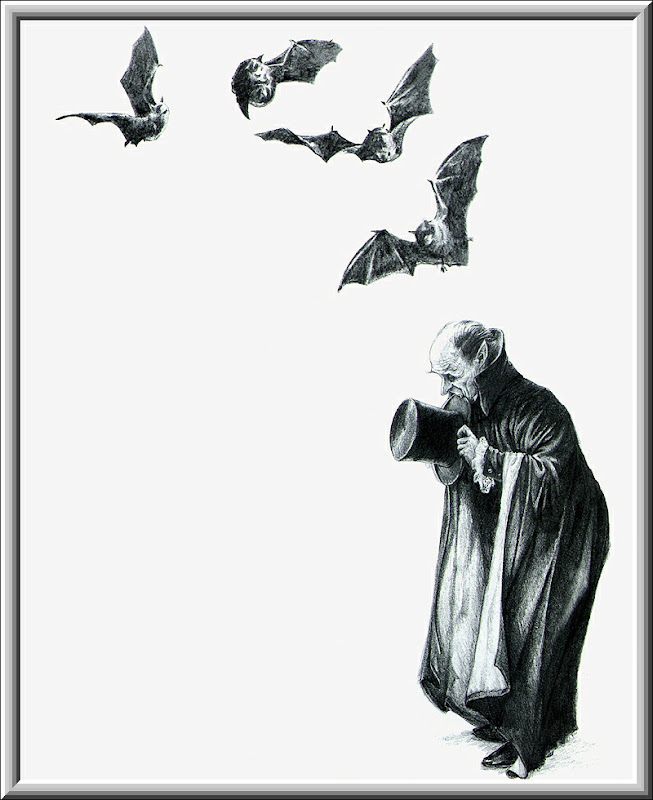 Old Vampyre And Bats, Scary Halloween