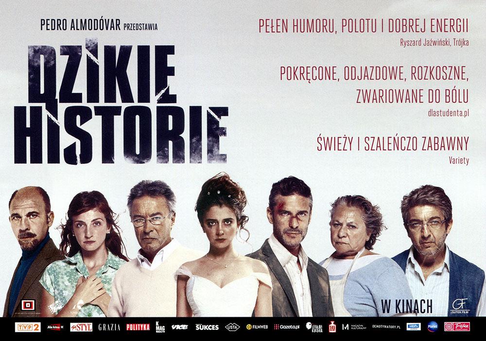 Ulotka filmu 'Dzikie Historie (przód)'