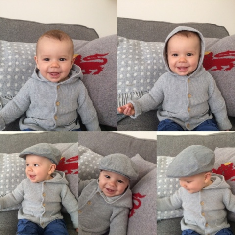 baby grey cardigan