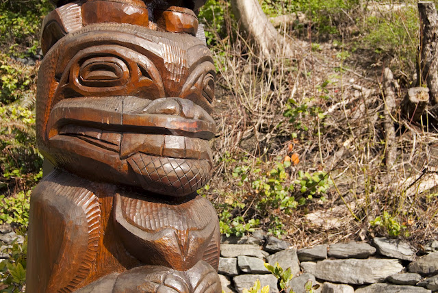 Totem pole along Whatcom Creek Trail / Credit: Bellingham Whatcom County Tourism
