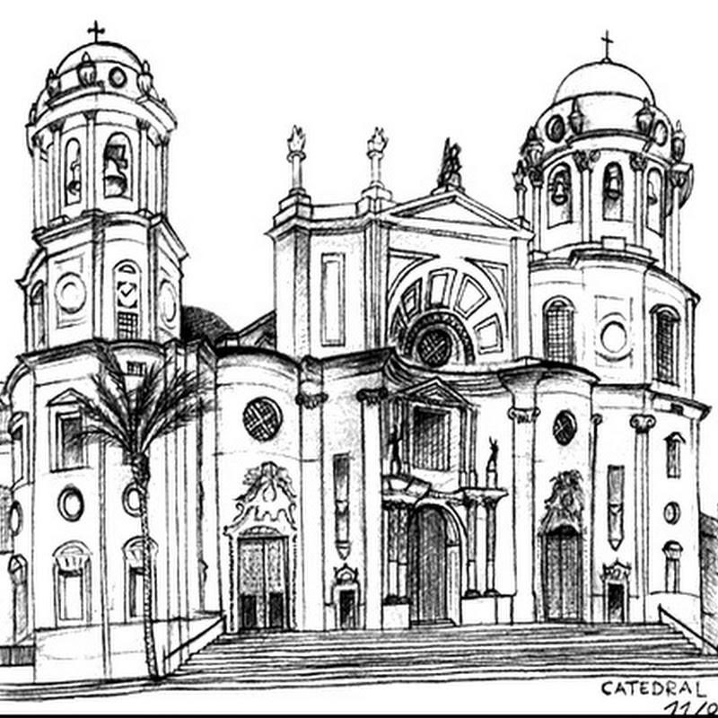 Dibujos para colorear de la Catedral de Cádiz