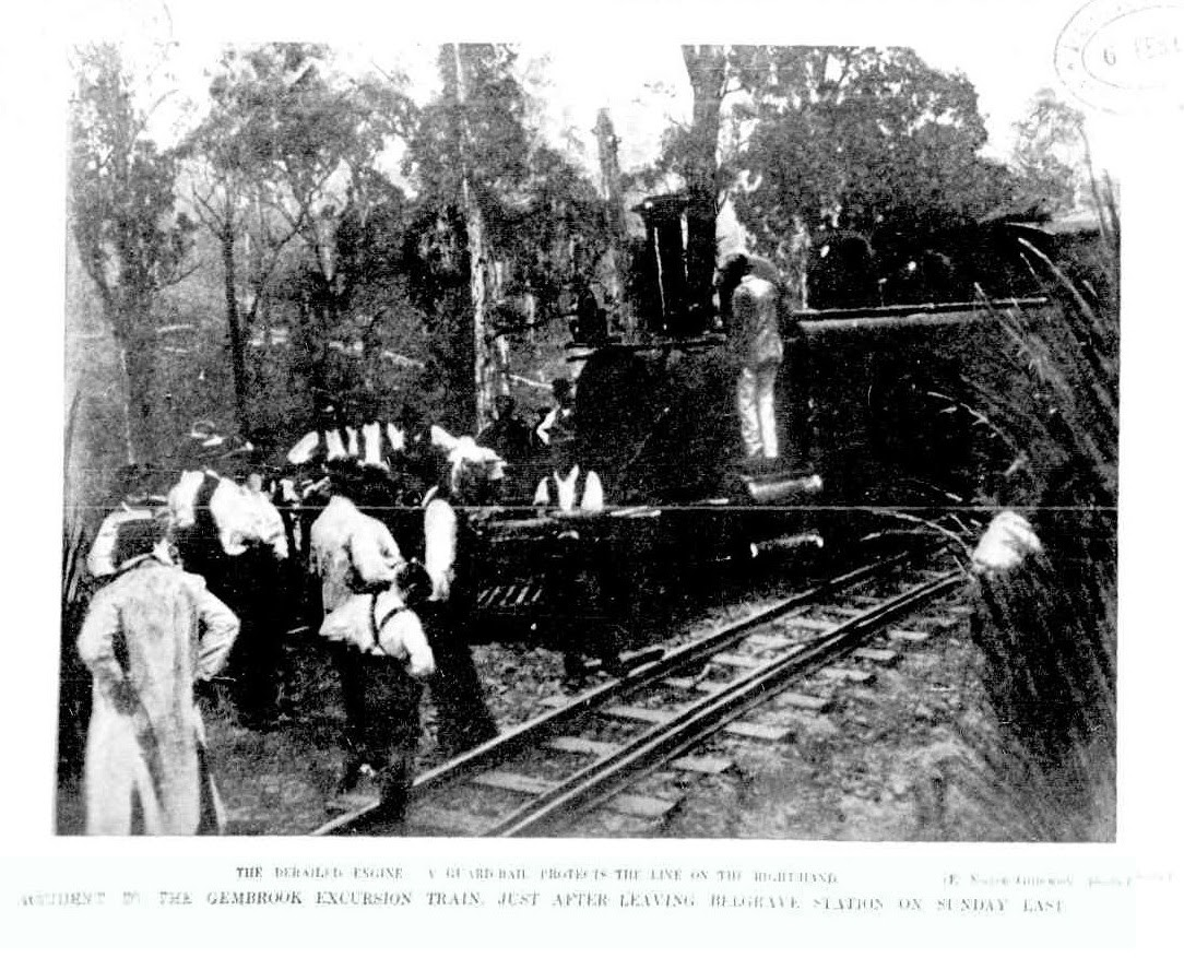 Photo of the derailment from The Australasian Saturday 3 February 1906  Page   30