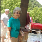 Sue Phillippi one of the ladies who served our lunch from Crockett UMC.