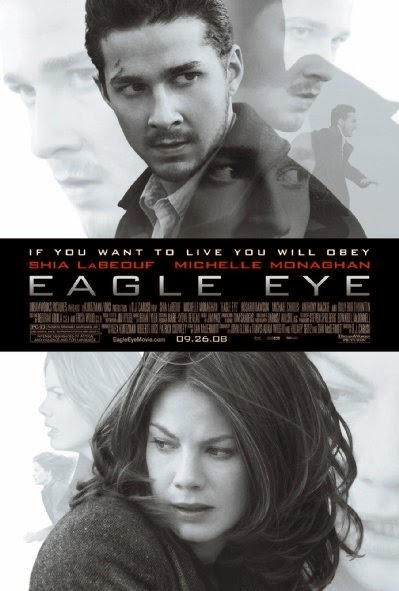 Poster Of Eagle Eye (2008) Full Movie Hindi Dubbed Free Download Watch Online At Alldownloads4u.Com