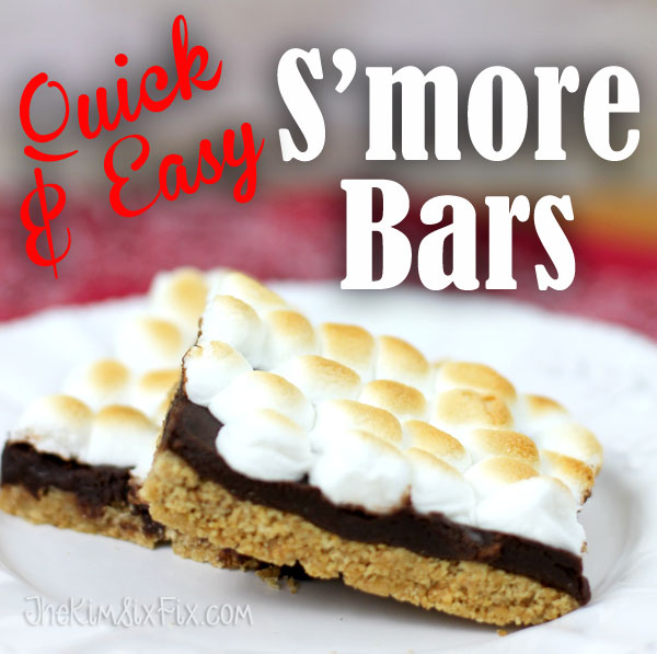 Quick and easy s mores bars