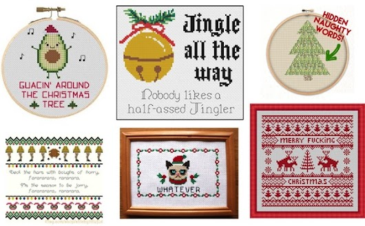 Best Sarcastic Holiday Cross Stitch Patterns