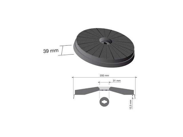 Filtro carboni attivi per cappe Elica 20 cm. FA01, offerta vendita ...