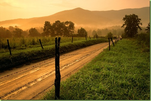 summertime country road