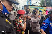 Aksi Unras Di Verena Finance, Polres Serang Kota Polda Banten Bagikan Masker dan Himbau Prokes